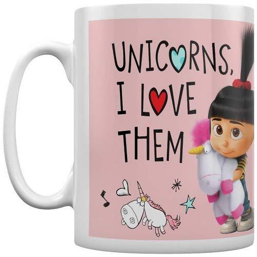 Pyramid International' Despicable Me 3 (Unicorns I Love Them) - Taza de café y té en Caja de...