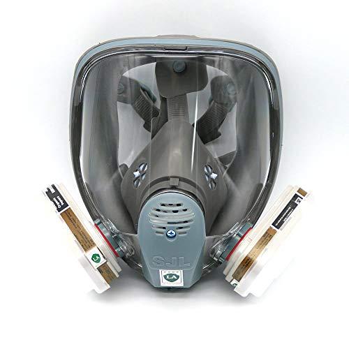 Für 6800SJL Gas Maske Full 7Maskenkörper Atemschutzmaske teilig Anzug Malerei Sprühen