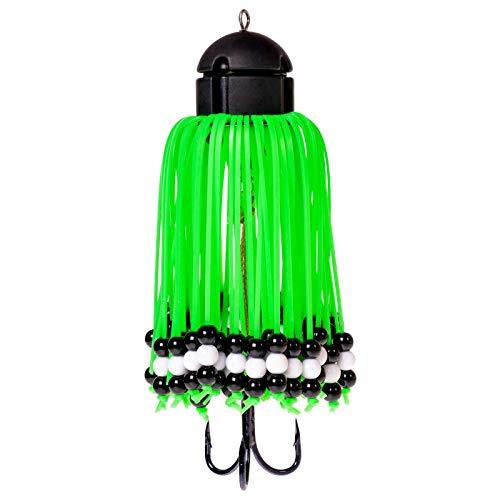 Zeck Rattle Teaser grün - Vertikalköder zum Welsangeln, Gewicht:100g