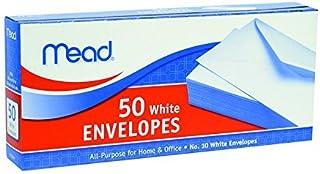 "MeadWestvaco 75050 4-1/8"" X 9-1/2"" #10 White Envelopes 50 Count"