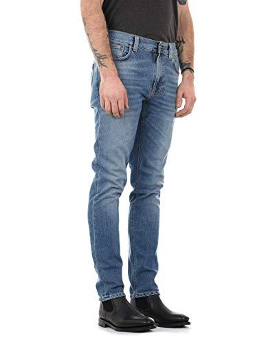 Nudie Jeans Herren Slim Jeans Lean Dean, Blau (Indigo Spirit), W38/L34