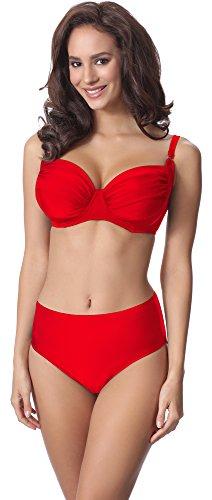 Merry Style Damen Bikini Set P61472W (Rot, Cup 95 C/Unterteil 46)