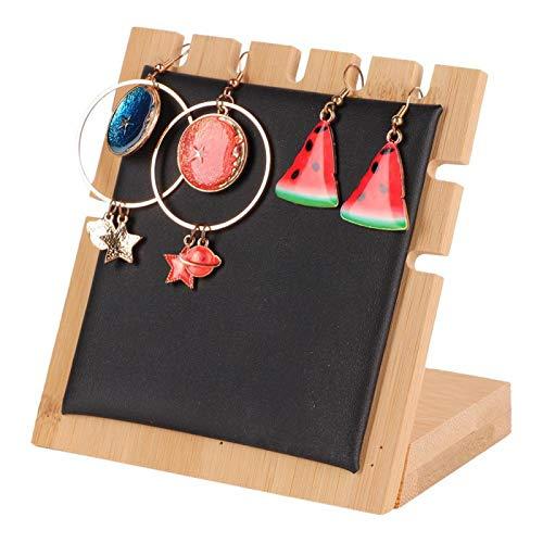 Soporte de exhibición de joyería colgante portátil simple en forma de L, adecuado para centros comerciales, exposiciones de joyas, hogares, etc. (negro)