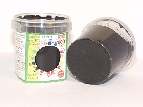 ökoNORM nawaro Fingerfarbe schwarz, 150g