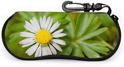 Bright Flower Lovely Daisy Soft Funda para gafas de sol para mujer Estuche portátil para gafas de sol Estuche ligero portátil con cremallera de neopreno Estuche blando para gafas de sol
