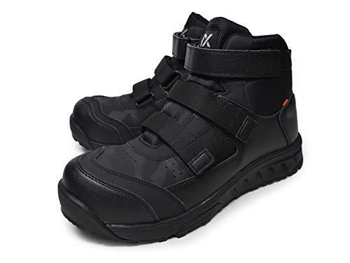 [テクシーワークス] 安全靴 ミッドカット プロスニーカー WX-0008 メンズ ブラック 25.5cm