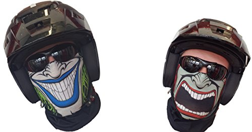 SA Company Passamontagna/scaldacollo con doppia maschera, protezione dal freddo per Halloween, sci, snowboard, pesca, caccia, bicicletta, moto, paint ball, originale dagli USA