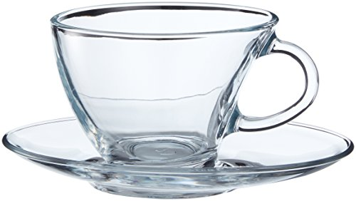 Pasabahce 98396 - 12-tlg Tassen mit Unterteller