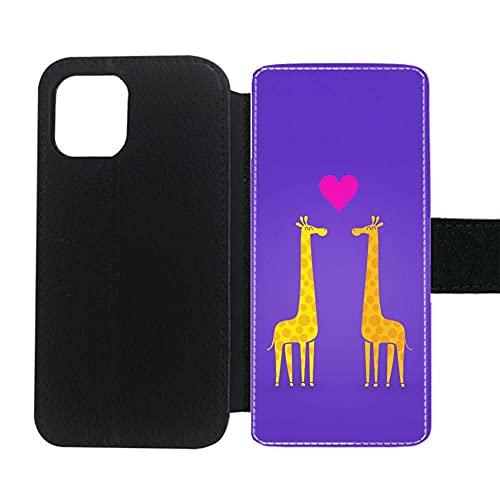 Compatible para Apple iPhone 12Pro Dropproof Caja Dura del Teléfono Abs Impresión Giraffe 1 Niña