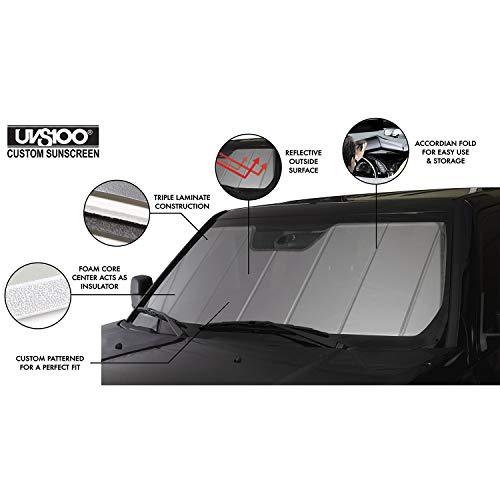 Covercraft UVS100 Custom Sunscreen   UV11464SV   Compatible with Select Jaguar F-Pace Models, Silver