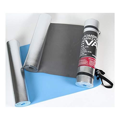 Cisne 2013, S.L. Esterilla de Aluminio EVA para Acampada, Dormir, Yoga, Multiusos, a Prueba de Humedad. Esterilla Aislante para Exteriores 50x180cm Color Negro.