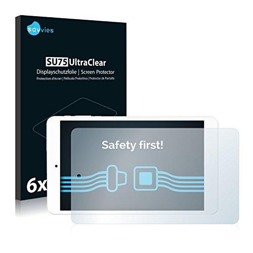 Savvies 6X Schutzfolie kompatibel mit Odys TigerTab 8 Displayschutz-Folie Ultra-transparent