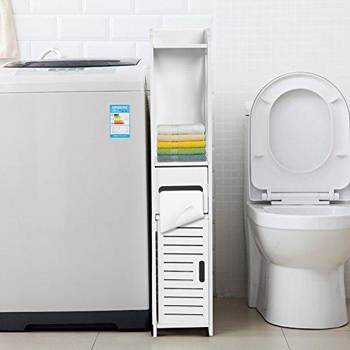 80 * 15.5 * 15.5CM Gabinete de Muebles para Cuartos de Baño y Lavaderos Alacena Estante de Almacenamiento de Tejido para Lavandería