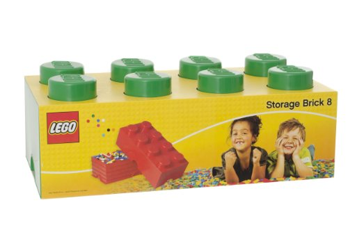 LEGO Lizenzkollektion 40041734 Stapelbare Aufbewahrungsbox, 8 Noppe, dunkelgrün