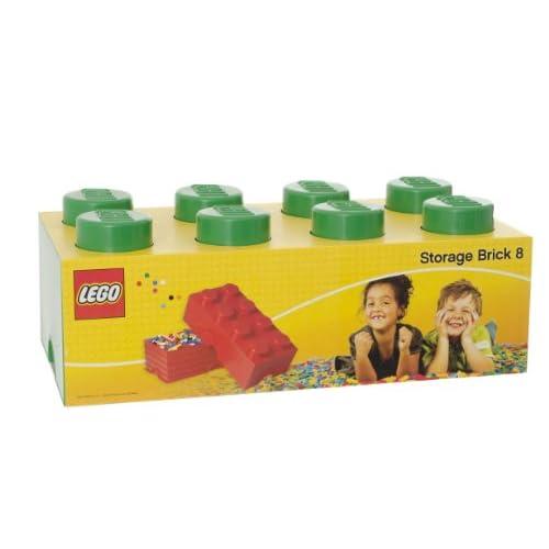LEGO Storage - Mattone Cesta Contenitore di archiviazione da 8 bottoni, colore Verde