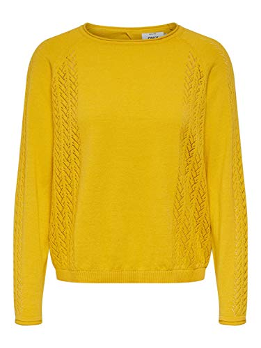 Only Jersey de Punto ONLEDEN L/S Pullover CC KNT para Mujer Mujer Color: Solar Power Talla: L