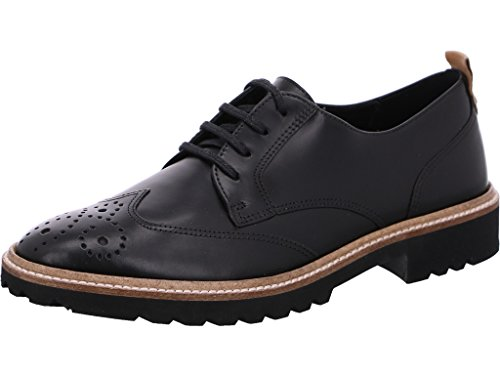 ECCO Damen INCISE Tailored Brogues, Schwarz (Black 1001), 41 EU