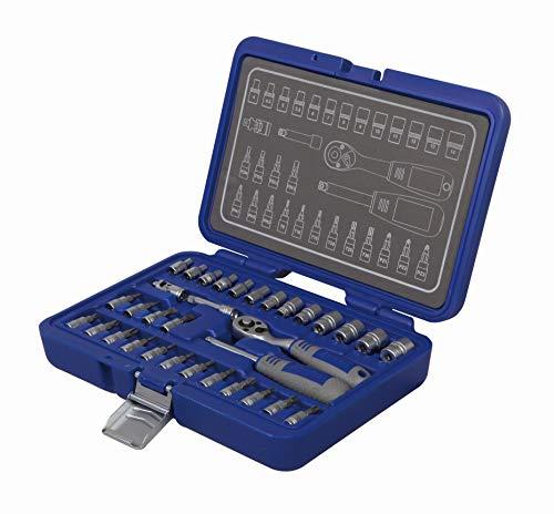 Michelin 602010100 Steckschlüsselsatz, Nusskasten, Ratschenkasten Set