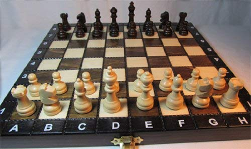 ChessEbook Schachspiel + Dame + Backgammon aus Holz 27 x 27 cm