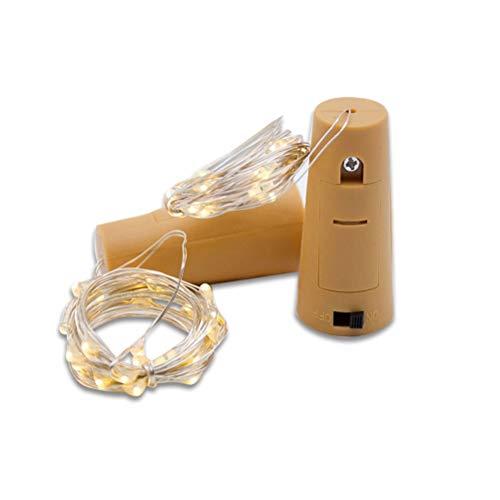 DZHT Lámpara De Botella De Vino De 1 M 2 M Con Corcho Lámpara De Cadena LED Alambre De Cobre Lámpara De Guirnalda De Cuento De Hadas Fiesta De Navidad Decoración De La Boda (Color : RGB)