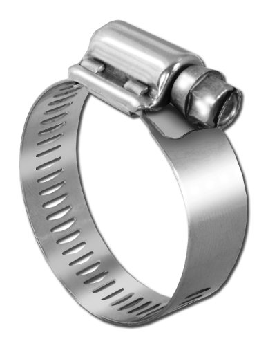 Pro Tie 33501 SAE Size 024 Range 1-1/16-Inch-2-Inch Heavy Duty All Stainless Hose Clamp, 4-Pack