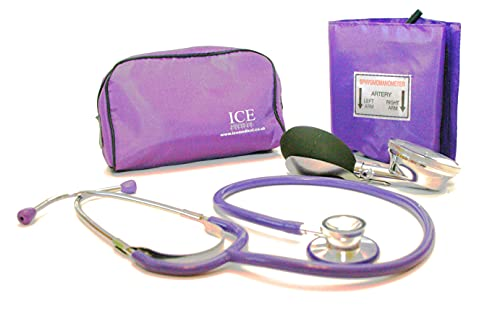 Aneroid Purple Sphygmomanometer with 1 Adult Cuff and Purple Stethoscope -...