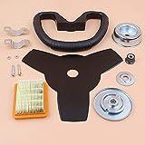Recortadora, cuchilla de manillar, filtro de aire, kit de reemplazo de cabezal de engranaje para Stihl FS120 FS200 FS250, desbrozadora de césped, desbrozadora