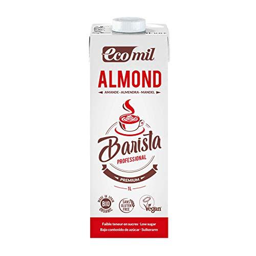 Ecomil Barista Almond Bio 1L. Bebida de almendra bio especial para barista. Sin lactosa, sin gluten, sin soja, sin huevo, sin proteína láctea, bajo contenido en sal y vegano