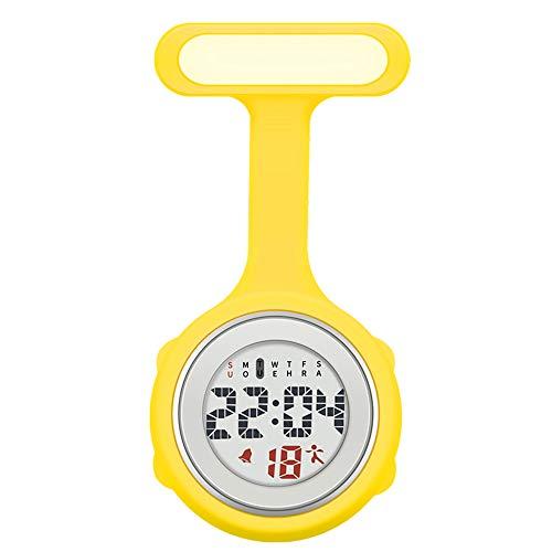 LQS72 Relojes de Enfermera Digitales Personalizados Reloj de Enfermera con Clip de Color Silicona con Alarma