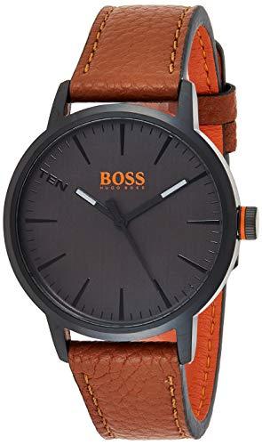 Hugo Boss Orange Reloj Análogo clásico para Hombre de Cuarzo con Correa en Cuero 1550054, Marrón