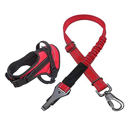 WZWHJ Useful Vehicle Safety Harness for Dogs Multifunction Breathable Fabric Vest in Vehicle for Trip and Daily Use (Size : XXLXXLarge)