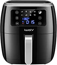 iwoly Air Fryer XL (6.3 QT) Digital Hot Oven Cooker , One Touch Screen with 8 Presets, Nonstick Basket, 1700W Oilless Cooker