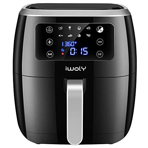 iwoly Air Fryer, 6.3QT Electric Hot Air Fryers Oven 1700W...