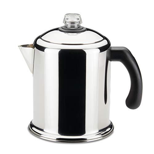 Farberware 50124 Classic Yosemite Stainless Steel Coffee Percolator - 8 Cup, Silver