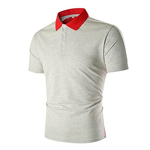 WBLKD Camisas De Golf Livianas para Hombre Camisetas De Manga Corta Rendimiento De Secado Rápido Camisetas Atléticas Grey-M