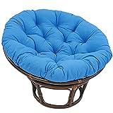 Aisima Verdicken Stuhlauflage, Papasan Outdoor Egg Nest Stuhlauflagen Runde Hängesessel Schaukel Stoffkissen Für Hausgarten Balkon Terrasse,120 * 120cm