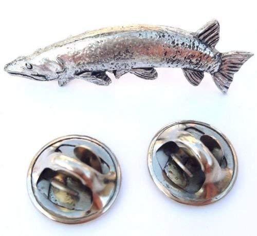 Pike Fabriquéà la main en étain massif au Royaume-Uni Insigne De Goupille De Revers + 59mm Insigne De Bouton + Sac-cadeau