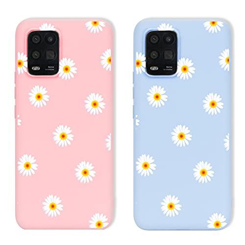 Yoedge 2 Stück für Huawei P smart 2019 / Honor 10 Lite Hülle,Matt Silikon Dünn Weich TPU Kratzfest Stoßfest Handyhülle,Schön Blumen Muster Schutzhülle für Huawei P smart 2019 6,21