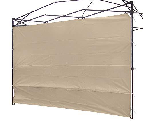 NINAT Toldo lateral de privacidad, panel de pared para cenador de 3 m, resistente al agua (marco no incluido), color beige