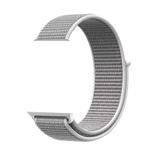 XIHAMA - Cinturino di Ricambio in Nylon Compatibile con Orologi da 38 mm / 40 mm / 42 mm / 44 mm, Cinturini per iWatch Serie 5 4 3 2 1 (38mm/40mm, Seashell)