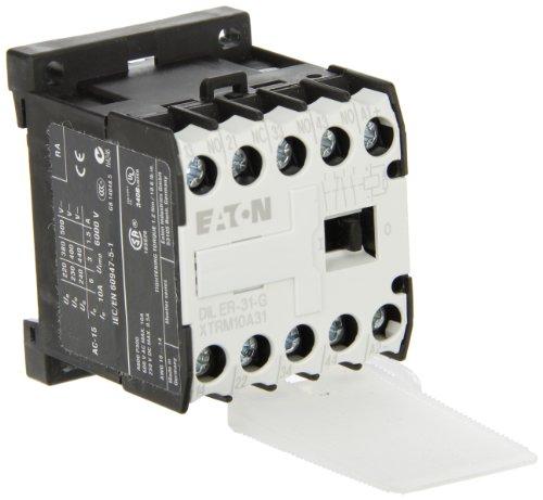 Eaton DILER-31-G(24VDC) Contactor de Maniobra, 3 NO con 1 NC, 24 V DC