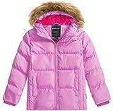 Wantdo Girl's Thicken Winter Coat Warm Sherpa Fleece Puffer Jacket Pink 14/16