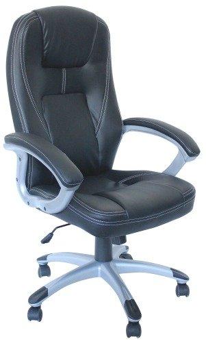 Stilvoller Luxus-Chefsessel aus Leder, für Büro, Zuhause, Arbeitszimmer, Computertisch, Kipp- und Verriegelung, Drehgelenk und Höhenverstellung.