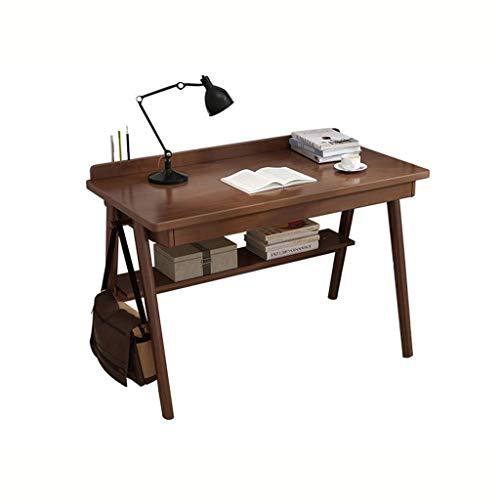 LLRDIAN Casa in Legno massello scrivania scrivania da scrivania in Legno Color Desktop scrivania Studente scrivania casa Semplice Tavolo Pieghevole per Computer