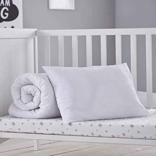 Silentnight Safe Nights Toddler Duvet & Pillow Bed Set - Junior Duvet Cot Bed Quilt and Pillow Set - Machine Washable Anti Allergy Kids Bedding Bunk Bed Duvet