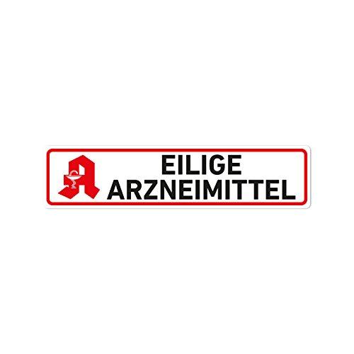 Eilige Arzneimittel Magnet Schild KFZ Auto Magnetschild Autoschild Apotheke