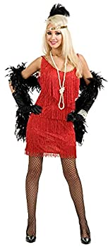 PLus Size Red Fringe Dress