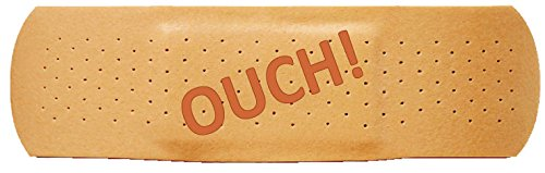 Bumper Planet - Bumper Sticker - Ouch, Band Aid - 3 x 10 inch - Vinyl Decal Professionally Made in USA