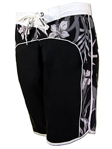 SEESTERN Damen Boardshorts Surfshorts Boardshort Surf Short Bade Shorts XS-XXXL Schwarz M