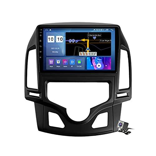 Autoradio con Navigatore GPS con Android 11 9' Touch Screen per Hyundai I30 2006-2011 Supporta BT/Mirrorlink/Video e Audio Player/FM RDS DSP Stereo Auto Radio/SWC/Carplay,Auto,M500S